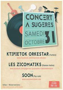 Affiche du concert avec Soon à Sugères