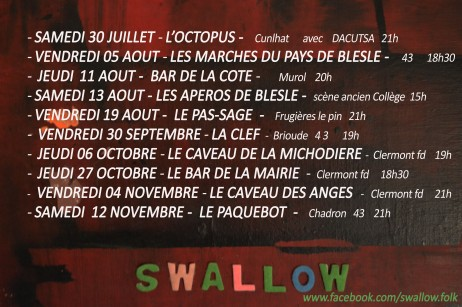fly dates 16 swallow juillet 3